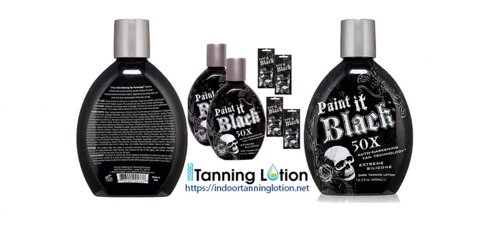 Millennium Tanning Paint It Black 50X,13.5 Oz-Lotion-without bronzer